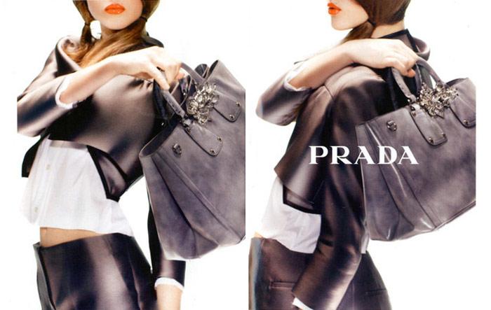 Prada S/S 2010: Neon Orange Lipstick