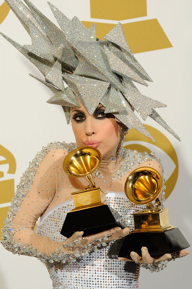 Lady Gagas Grammy Makeup Lady Gaga at the Grammys
