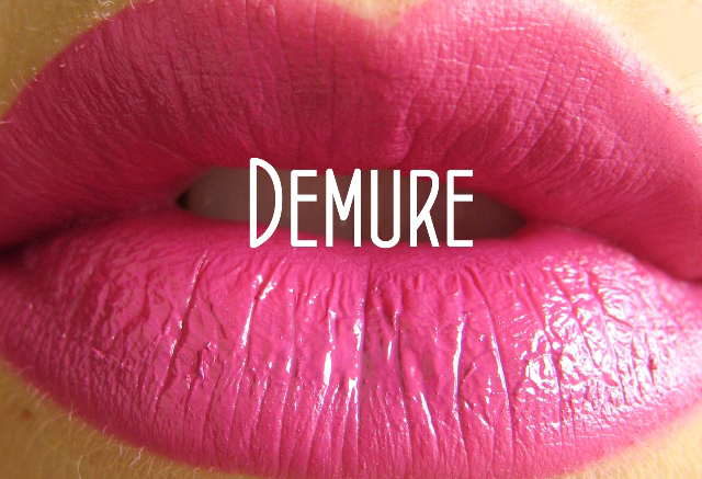 Demure Lip Tar Swatch1 Two New Lip Tar Swatches! 