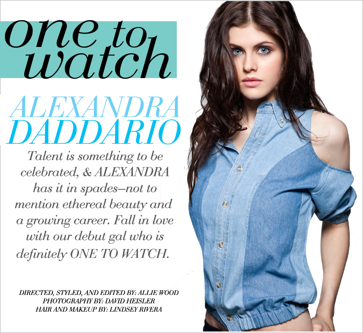 AD COVER New Work: Alexandra Daddario for Style File Daily 