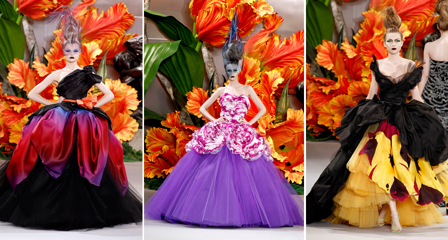 Couture Dresses Dior 2010 Christian Dior Couture 2010: The Makeup and Hair