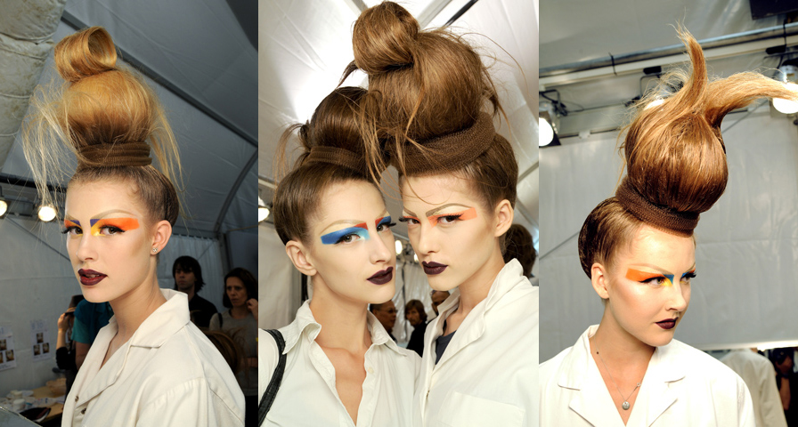 Dior Couture High Fashion Hair Christian Dior Couture 2010: The Makeup and Hair