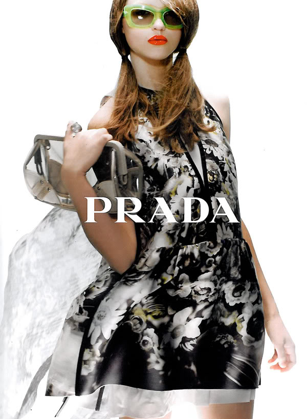 prada spring summer 2010 Summer 2010 Trend: Orange Lips!