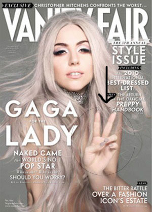 Lady Gaga Nude on Vanity Fair Cover copy The Scoop: Lady Gagas Nail Polish on Vanity Fair