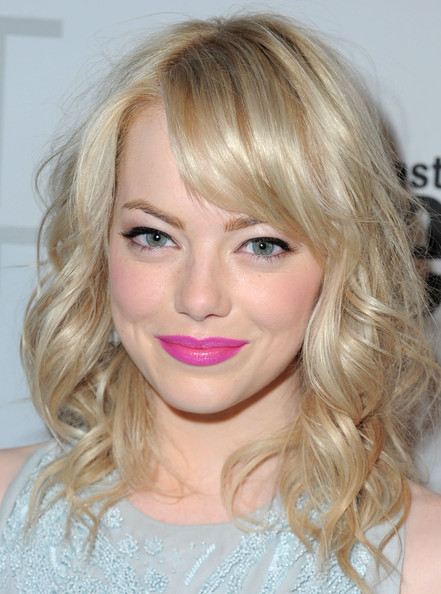 Emma+Stone+Conde+Nast+Traveler+Annual+Hot Party April 11 Celebrity Makeup Trend SS 2011: Hot Pink Lips