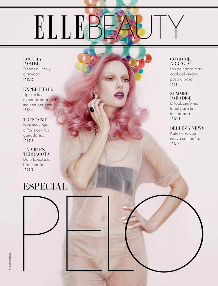 jamie nelson1 Hot Makeup: Elle Mexico June 2011