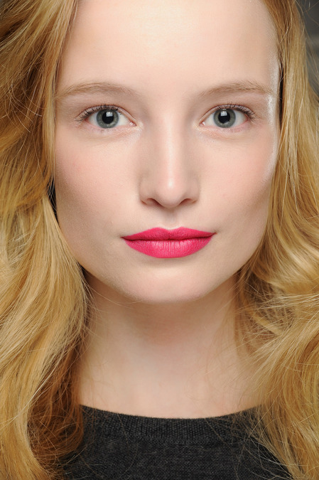 DVF2 Magenta Lips at Diane Von Furstenberg Fall 2013
