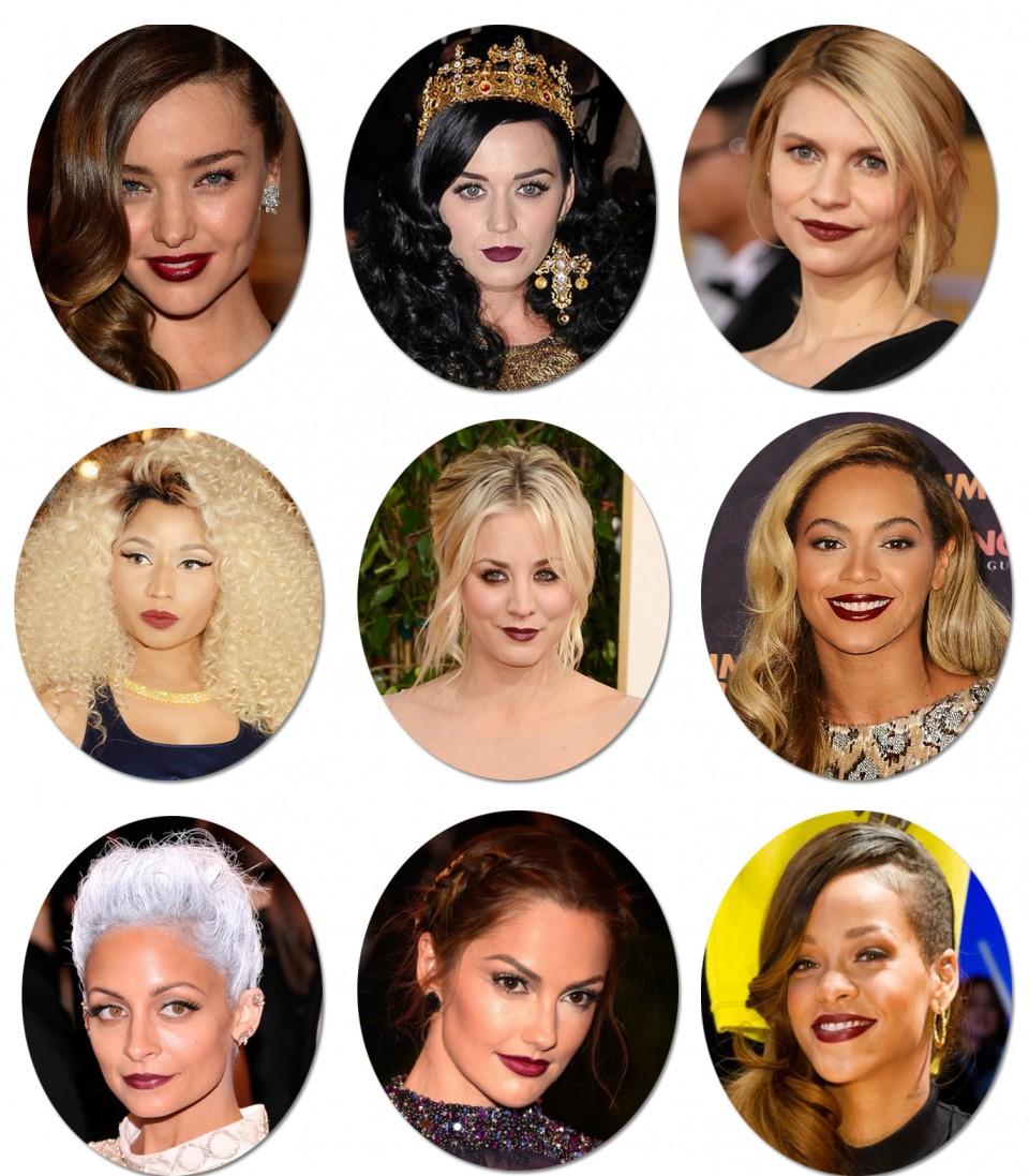 Burgundy Lips Celebrity